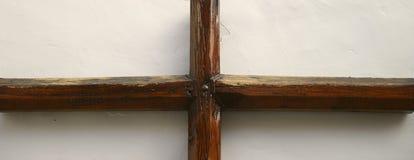 Houten kruisbeeld Royalty-vrije Stock Fotografie