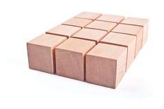 Houten kubussen Royalty-vrije Stock Afbeeldingen