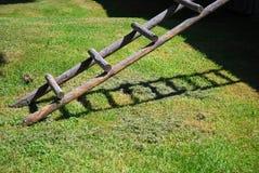 Houten ladder Royalty-vrije Stock Foto's