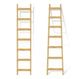 Houten ladder Royalty-vrije Stock Afbeeldingen