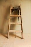 Houten ladder stock foto