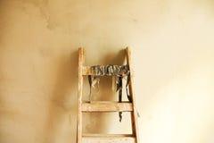 Houten ladder royalty-vrije stock fotografie