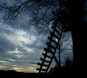 Houten ladder Stock Foto's