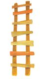 Houten ladder vector illustratie