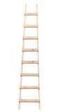 Houten ladderverticaal geïsoleerdep trapladder Royalty-vrije Stock Foto's