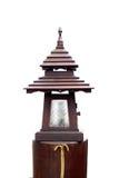 Houten lamp op witte achtergrond Royalty-vrije Stock Afbeelding