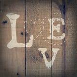 Houten liefde stock foto's