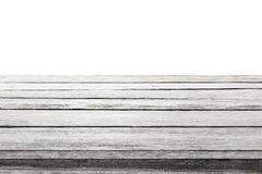 Houten Lijstbovenkant op Witte Achtergrond, de Houten Planken van de Bureauvloer Stock Fotografie