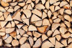 Houten logboeken Stock Foto
