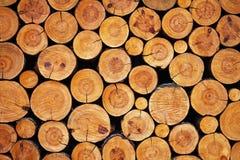 Houten logboekenachtergrond Stock Foto's