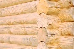 Houten logboekentextuur Stock Afbeelding