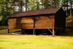 Houten loods Telemark, Noorwegen Royalty-vrije Stock Fotografie