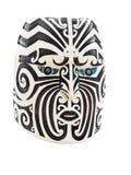 Houten Maori Gezicht stock fotografie