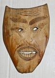 Houten masker stock afbeeldingen