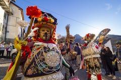 Wood mask of the Schignano`s carnival