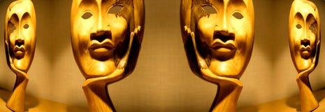 Houten maskers Royalty-vrije Stock Fotografie
