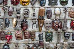 Houten maskers Royalty-vrije Stock Foto's
