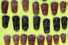 Houten maskers Stock Afbeelding
