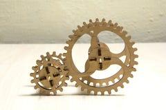 Houten mechanisme Stock Afbeeldingen
