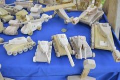 Houten met de hand gemaakt speelgoed Royalty-vrije Stock Foto
