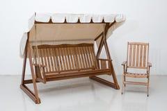 Houten meubilair royalty-vrije stock afbeeldingen