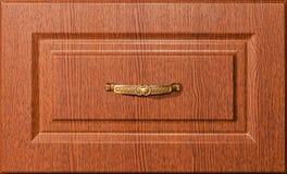 Houten meubilairvoorzijden met een handvat Royalty-vrije Stock Afbeeldingen