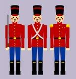 Houten Militairen Royalty-vrije Stock Foto's