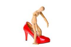 Houten model in de schoenmontage Stock Afbeelding