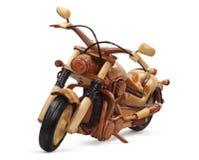 Houten motorfiets royalty-vrije stock foto's