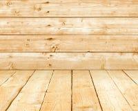 Houten muren en vloer Stock Foto's