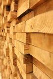 Houten muur Stock Foto's