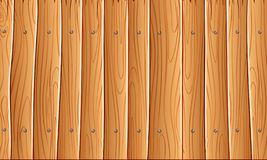 Houten muur, de Oranjegele houten achtergrond van de muurtextuur voor grafisch ontwerp, Vector stock illustratie