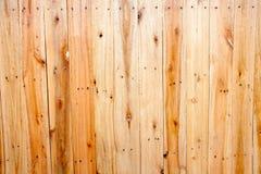Houten muur met de textuurachtergrond van de spijkerlijn Royalty-vrije Stock Foto