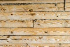 houten muur van het huis Stock Foto
