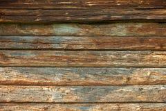 Houten muur van het oude logboekhuis Royalty-vrije Stock Foto