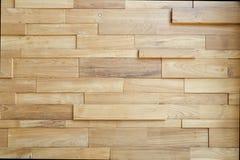 Houten muurlagen als achtergrond van de houten textuur moderne st van de plankmuur Royalty-vrije Stock Foto's
