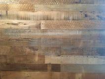 Houten muurplank met vele verschillende soorten texturen Stock Afbeeldingen
