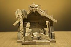 Houten nativity Royalty-vrije Stock Afbeeldingen