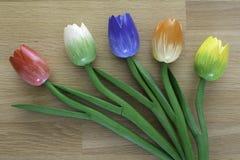 Houten Nederlandse tulpen Royalty-vrije Stock Afbeeldingen