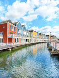 Houten, Netherlands - Traditional dutch houses Royalty Free Stock Photos