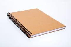 Houten notitieboekje Stock Foto