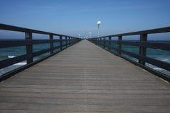 Houten oceaan-brug Royalty-vrije Stock Foto's