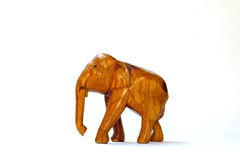 Houten olifant Stock Foto