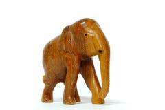 Houten olifant Stock Fotografie
