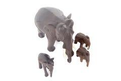 Houten olifanten Stock Foto