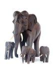 Houten olifanten Royalty-vrije Stock Foto