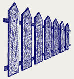 Houten omheining vector illustratie