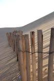 Houten omheining op Dune du Pyla, Gironde Royalty-vrije Stock Afbeelding