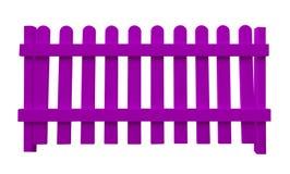 Houten omheining - viooltje Stock Foto's