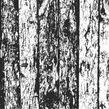 Houten omheinings grunge achtergrond, de zwart-witte textuur van de pijnboomschors Vector Royalty-vrije Stock Foto